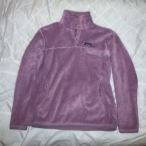 Bubble gum pink Patagonia pull over